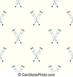Crutches pattern seamless