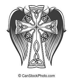 cruz céltica, asas