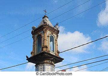 Cruz do Pascoal - Religious street monument at Carmo,...