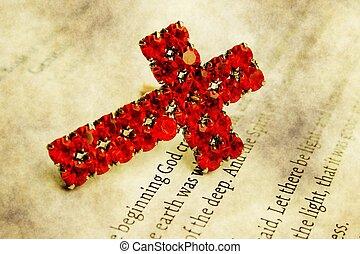 cruz, en, biblia