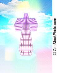 cruz, en, el, cielos