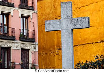 cruz, en la ciudad, de, madrid