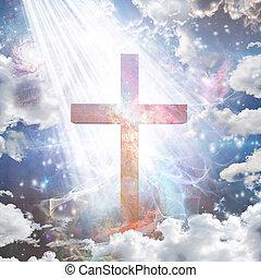 cruz, en, luz