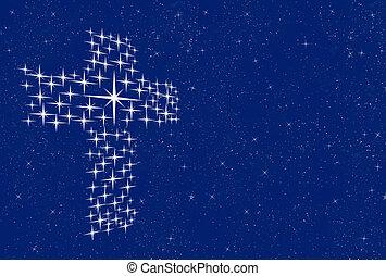 cruz, estrellas