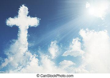 cruz, nube