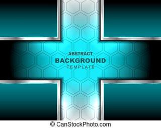 cruz, resumen, fondo azul