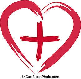 cruz, rojo