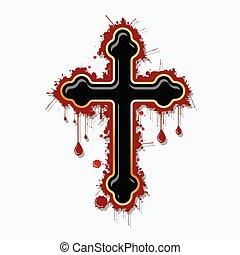 cruz, sangriento, ortodoxo