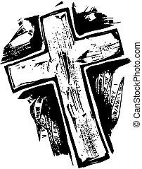 cruz, woodcut