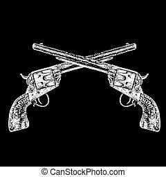 cruzado, armas de fuego