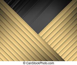 cruzado, elegante, cintas, plano de fondo, negro