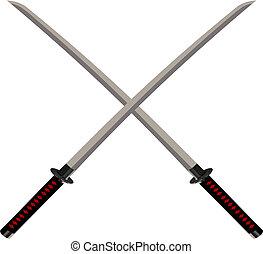 cruzado, espadas