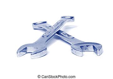 cruzado, llaves de tuercas