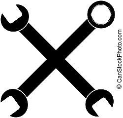 cruzado, llaves inglesas