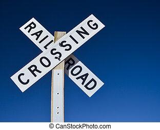 cruzamento, ferrovia, sinal
