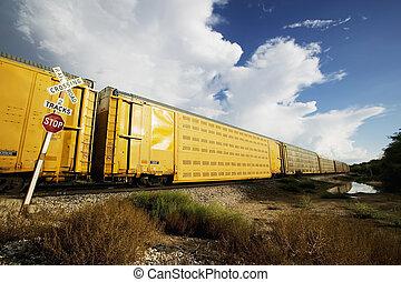 cruzamento, trem