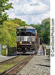 cruzamento, trestle, ferrovia