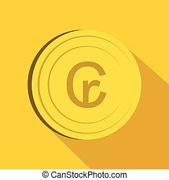 Cruzeiro icon, flat style