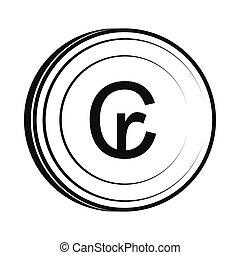 Cruzeiro icon, simple style