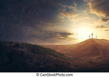 cruzes, deserto