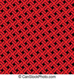 cruzes, padrão, abstratos, -, seamless, textura, vetorial