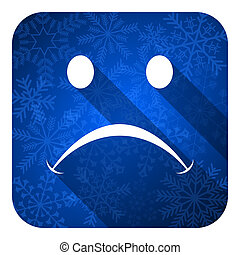 cry flat icon, christmas button