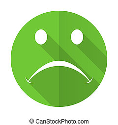 cry green flat icon