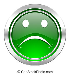 cry icon, green button