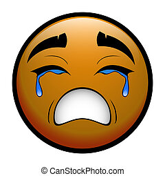 CRY - yellow emoticon crying over you
