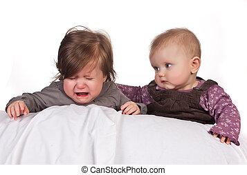 Crying baby comforted