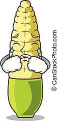 Crying baby corn cartoon in the fridge