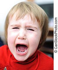 Crying baby, emotional scene