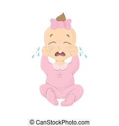 Crying baby girl.