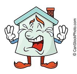 Crying - Cartoon Home Character