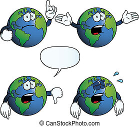 Crying Earth globe set