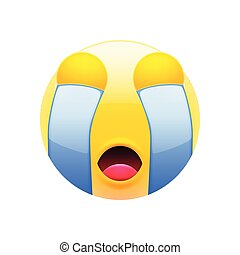 Crying Emoticon with Closed Eyes