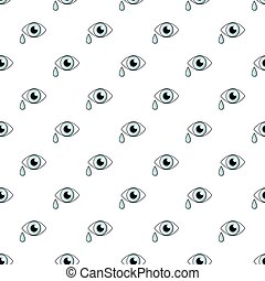 Crying eye pattern seamless