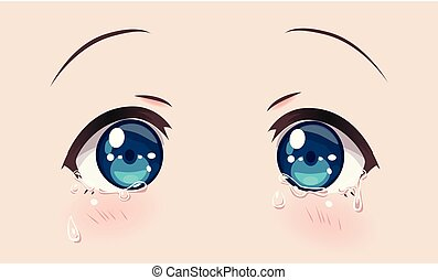 Crying eyes, anime (manga) girls