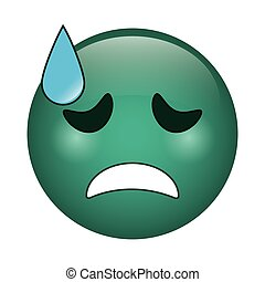 crying face emoticon funny icon