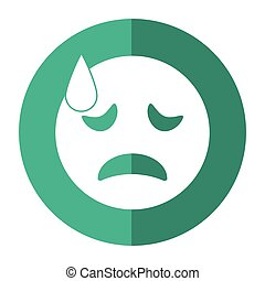 crying face emoticon funny shadow