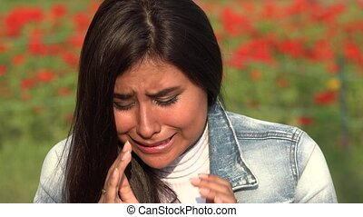 Crying Female Hispanic Teen