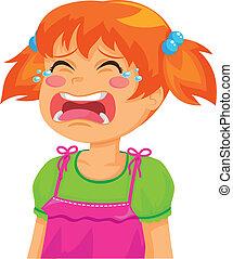 crying girl - little girl crying