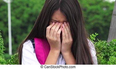 Crying Girl Student