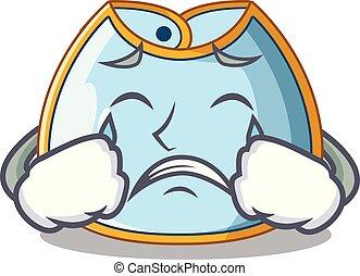 Crying homemade baby bib of cloth cartoon