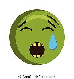 Crying injured emoji icon