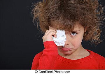 Crying little girl