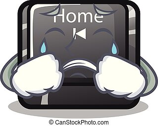Crying mascot toy home button attached computer