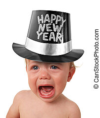 Crying New year baby