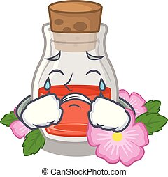 Crying rose seed oil the cartoon shape