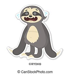 Crying sloth sticker